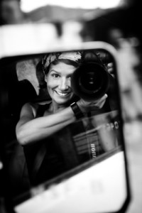 Photographe Isabel Corthier miroir voiture