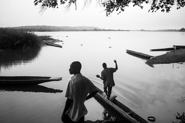 REFUGEES FROM CAR LIVE FROM SEVERAL MONTHS ALONG THE UBANGUI RIVER, IN NORTH CONGO DRC.