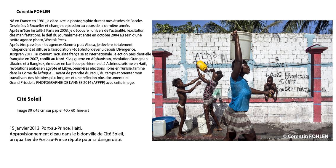 Approvisionnement d'eau dans les bidonville de Cité Soleil, Port-au-Prince.