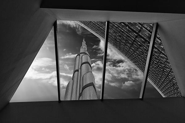 Architecture noir et balnc