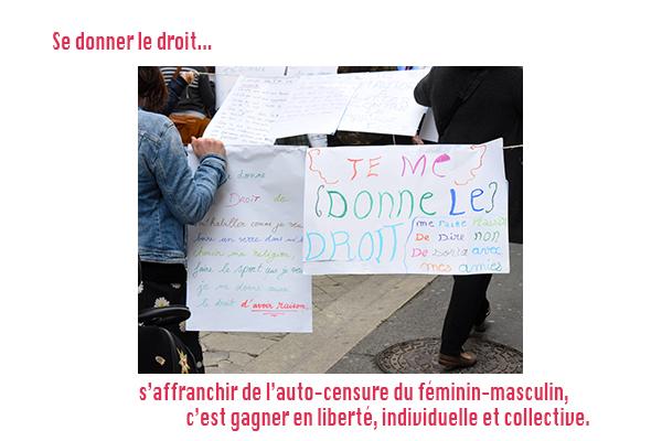 Marche en faveur de l'égalité Femmes-Hommes