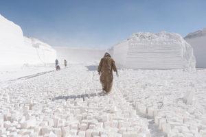 Carrière de calcaire en Égypte