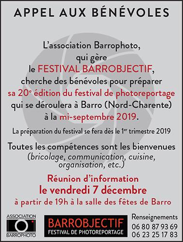L'association BarroPhoto fait son appel à bénévoles pour sa 2O e édition