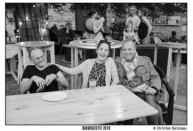Louise, son papa et JD Guillou